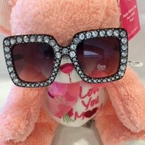 NWT! CIRCUS WIDE FRAME WITH RHINESTONE SUNGLASSES